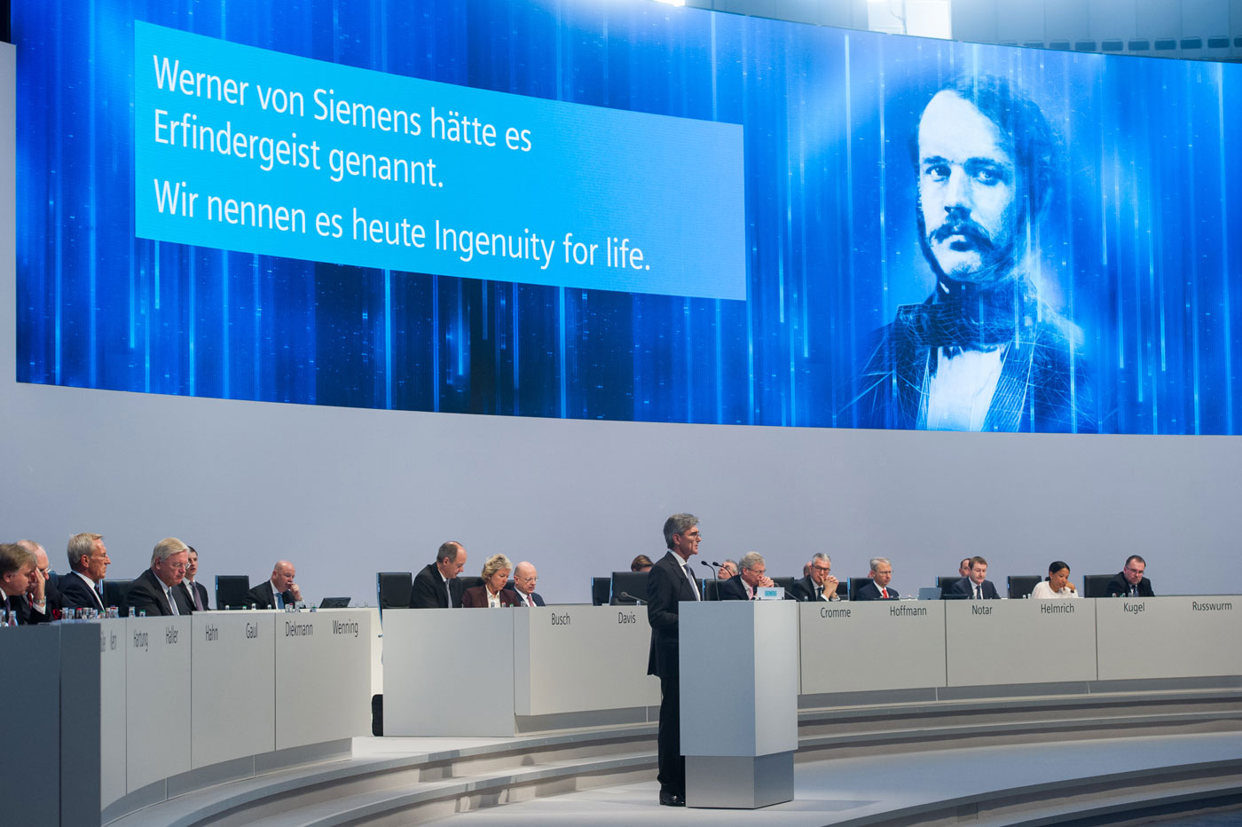 Annual Shareholders Meeting Siemens AG, general contractor prio Event Management