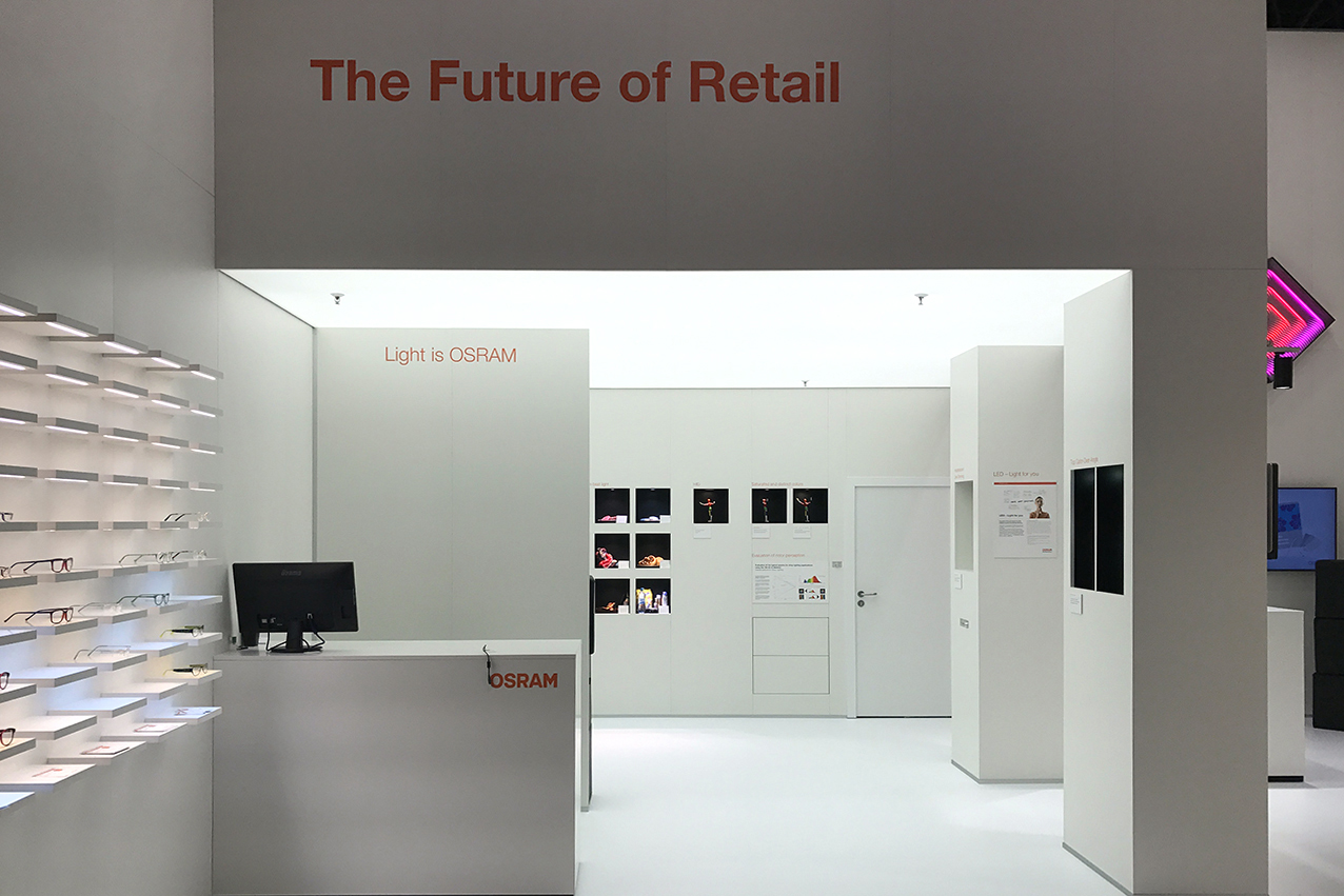 Through the focused light technologies, different solutions are presented turning shopping into an experience. Made by prio event Management for OSRAM EuroShop 2017.