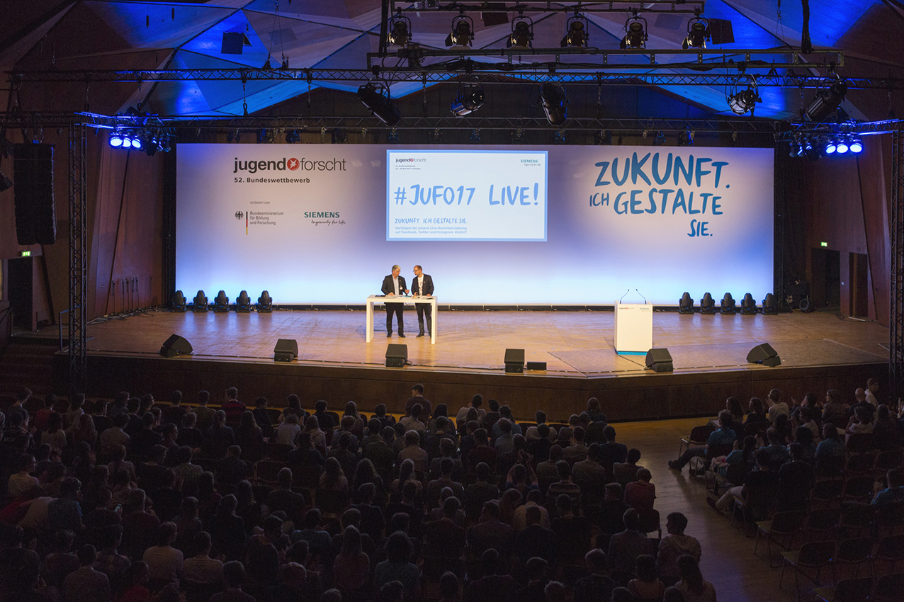 jugend forscht 2017. Patron of the event was Siemens and prio Event Management staged it all.
