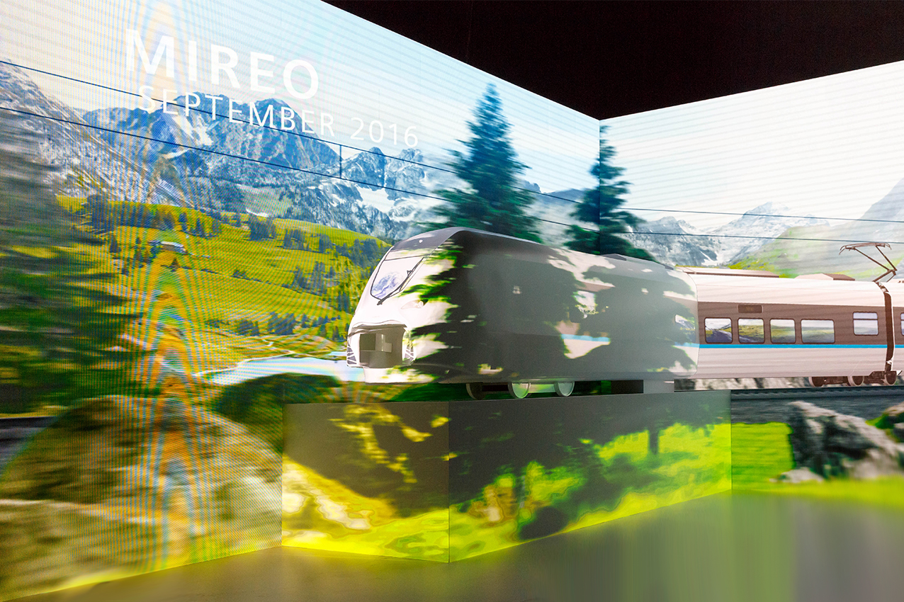 Projection Mapping of Mireo train for Siemens Mobility VIP Evening during Innotrans 2016