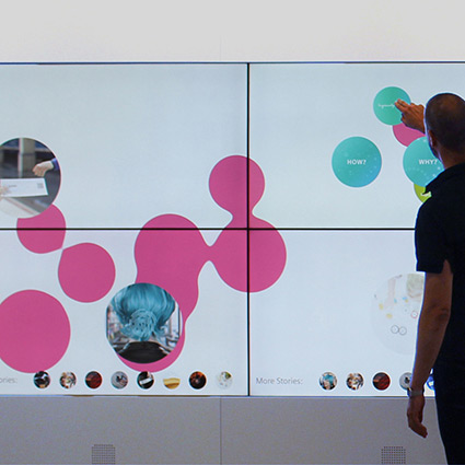 Siemens IFL Wall. Conception, planning and realisation of the interactive multi-touch wall by prio Event Management.