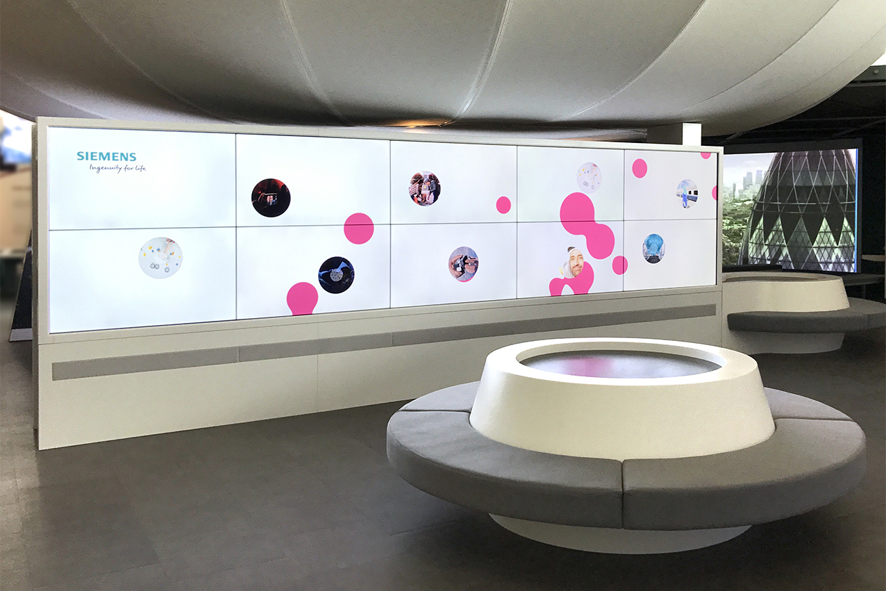Siemens IFL Wall. Conception, planning and realisation by prio Event management
