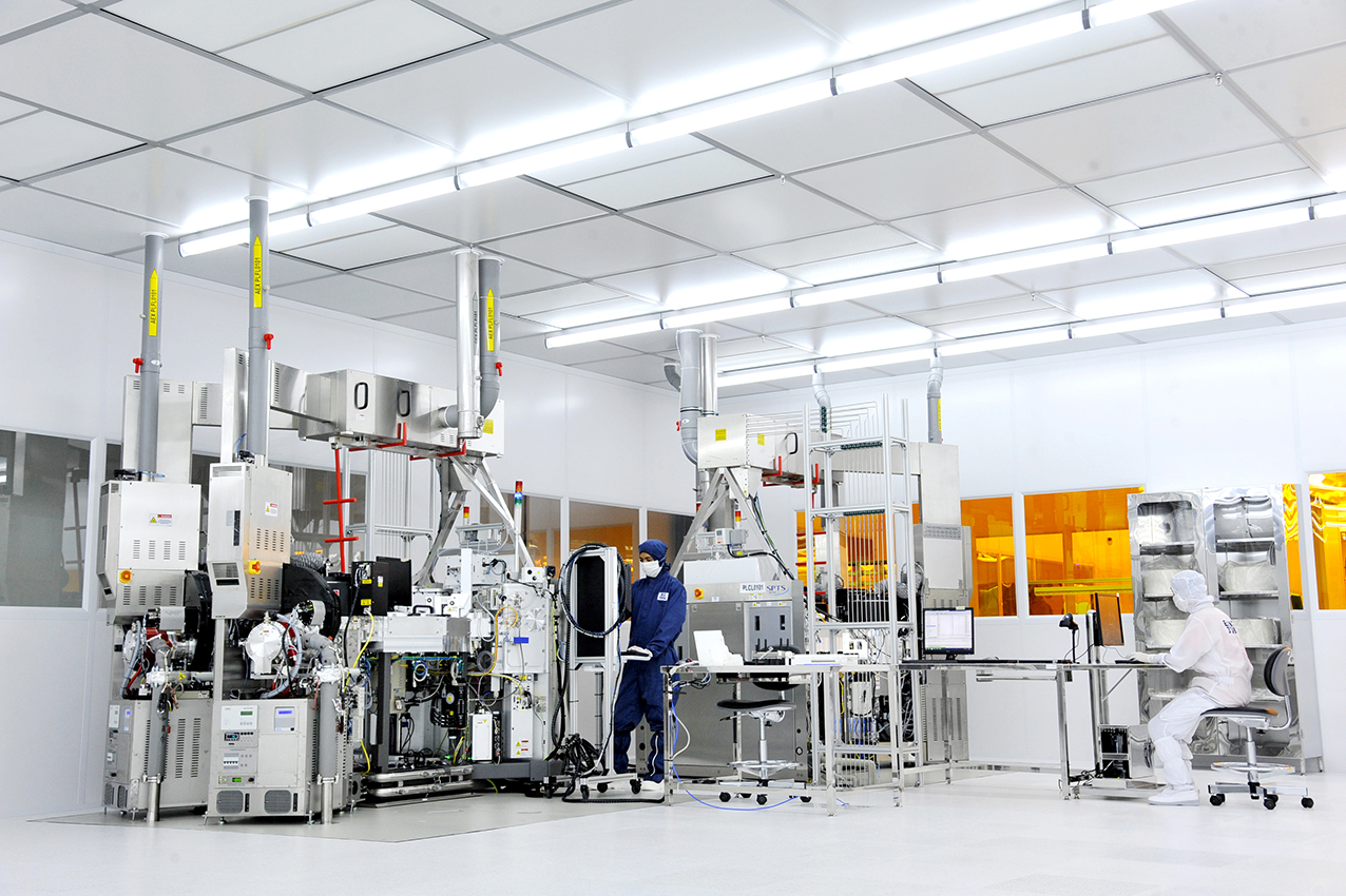 OSRAM Opto Semiconductors led chip plant opening in kulim made by prio Event Management. Inside of the factory.