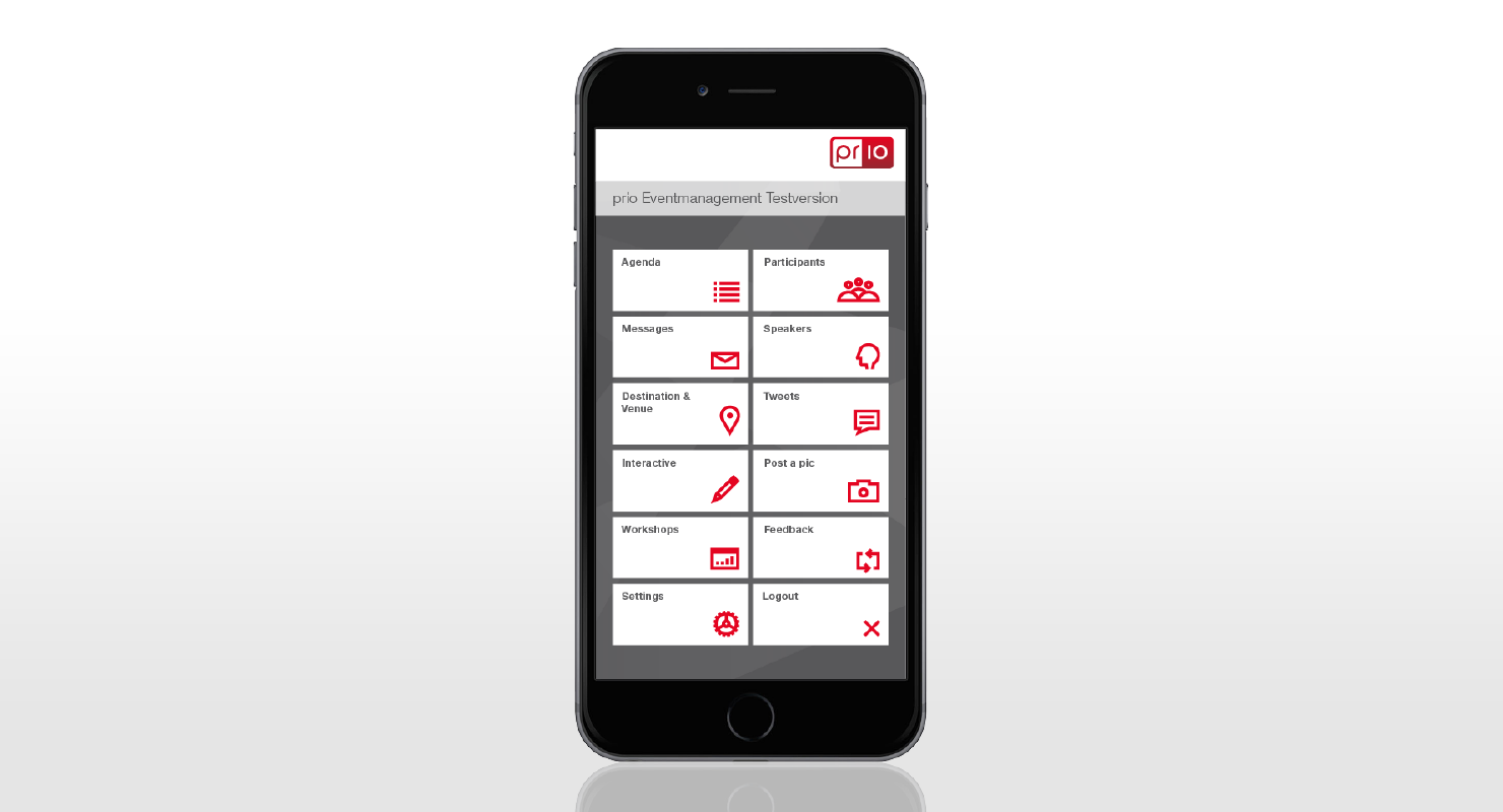 prio Event Companion an app for your event and conference guest, made by prio Event Management