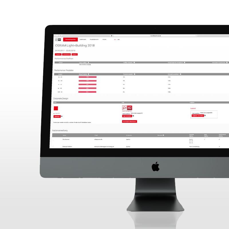 prio life enhancer. Features sind die koordination von Produktbestellungen, Statuspflege von Organisationsschritten und Abstimmungen im Grafikbereich.