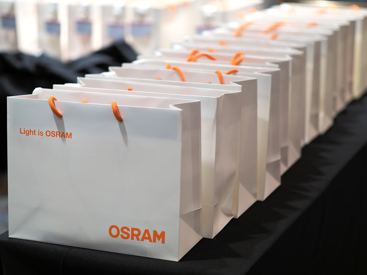 Goodie bag OSRAM Management Conference organised by Prio Event Management