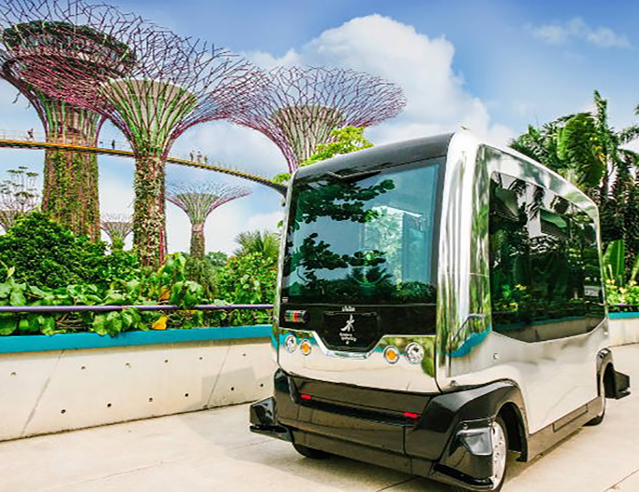 Autonomous driving in the gardens by the bay. OSRAM Management Conference organised by Prio Event Management.