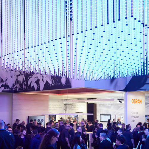 prio Event management Osram Messestand Light+Building 2018