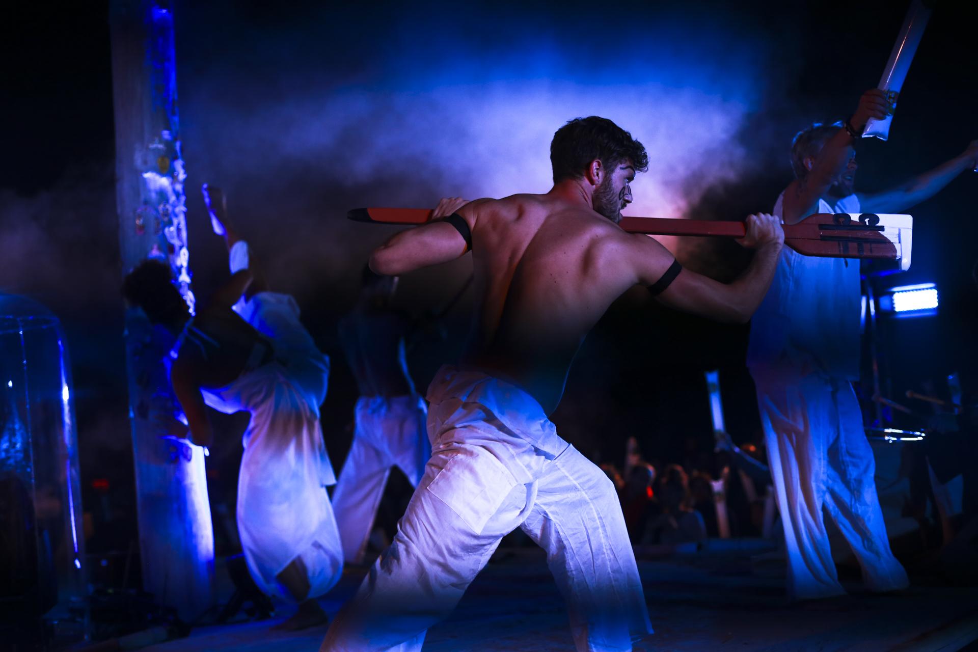 AVM Computersysteme Sommerfest 2018 made by prio Event Management, Tänzer der eigens choreografierten Haka Show.