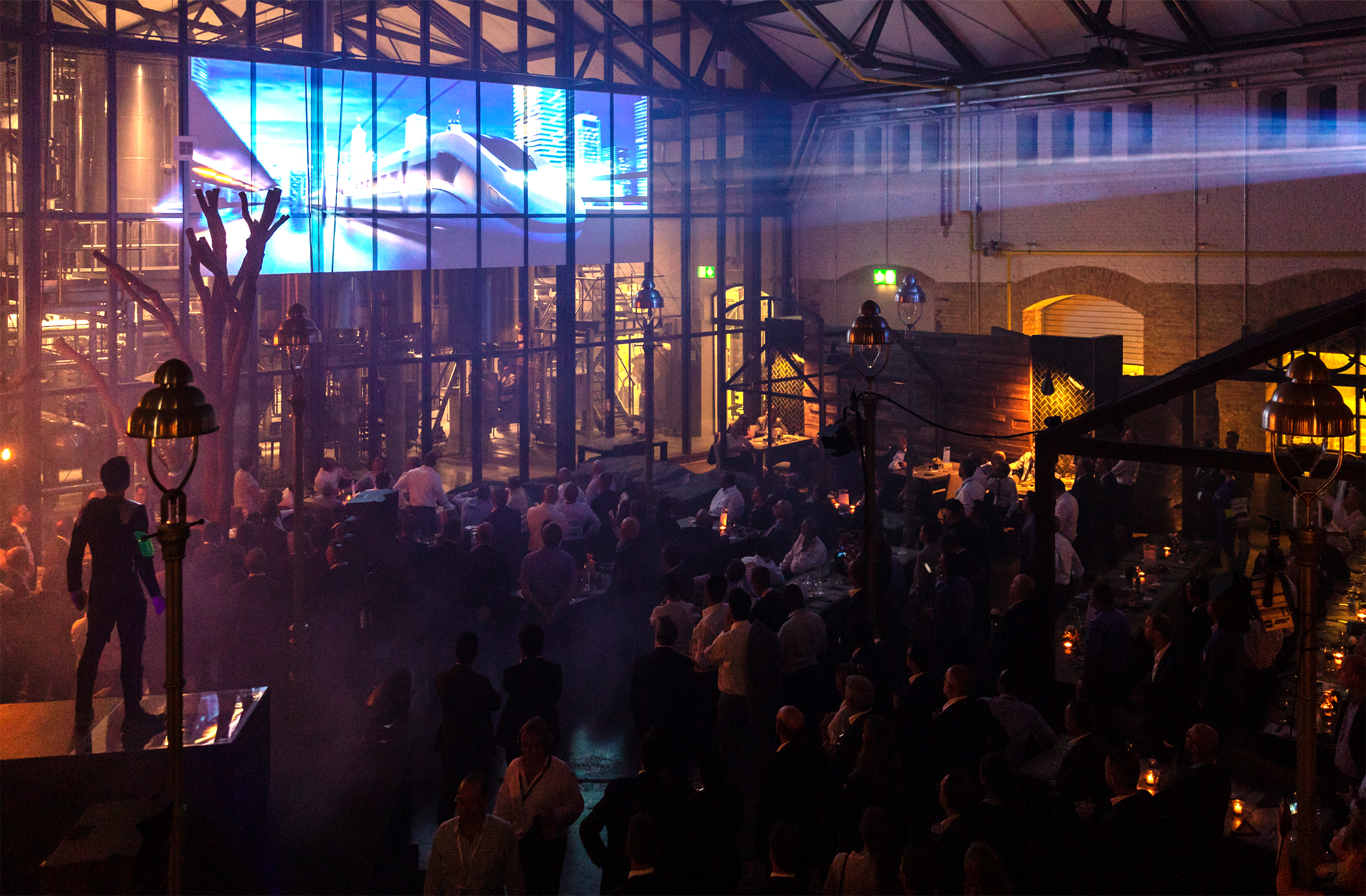 Siemens Mobility with prio event management at the Innotrans 2018 VIP evening event at the stone brewing berlin.